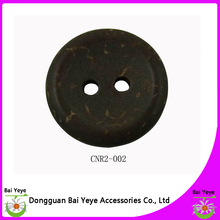 2 holes round natural coconut shell buttons
