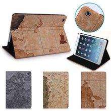 Map Printing leather case for ipad mini, for ipad mini accessories