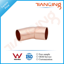 T203 Factory price pipe fitting copper 45 elbow with single socket