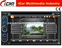 (iCar-6218)HOT Double Din 6.2'' touch screen,GPS,Bluetooth,TV,IPod car dvd vcd cd mp3 mp4 player