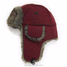Fashion faux fur trapper hat Russian winter ski earflap cap