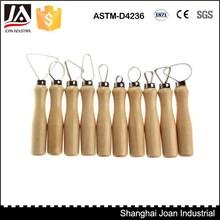 10 pc mango de madera escultura de arcilla del lazo herramienta de cerámica