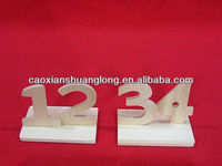 hot sale home decoration small wooden number