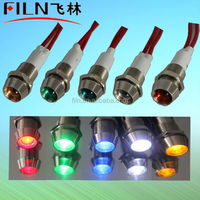 battery operated mini led lights 10MM LED With wire copper material amber color 100pcs/lot