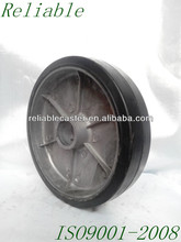 "Work Wheels 8x2"" Rubber On Aluminium Solid Caster Wheel"