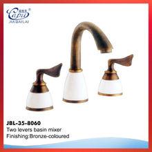 wall mounted antique basin faucet,double handle bathroom lavatory faucet mixer