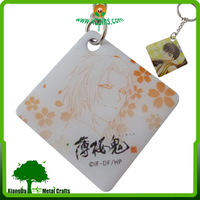 Factory price Polyester printed cartoon key chains
