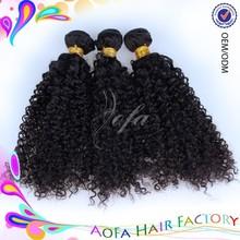 Unprocessed afro kinky curl indian virgin human curly hair 27 piece human hair weave 100% unprocessed virgin hair