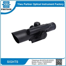 Tactical Hunting & Shooting Rifle Scope Zooming 2.5-10x40mm Red Green Dot Illuminated Telescopic Sight Riflescope,