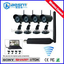 Alto quanlity prodotti 4ch digitale senza fili di telecamere di sicurezza kit bs-w254