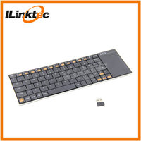 Ultra Thin 2.4G wireless external touchpad keyboard touch sensitive computer keyboard