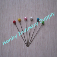 55mm Assorted Colors Round Head Shaped Decorative Pearl Pin Wheel