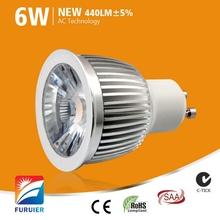 Samsung COB chip 6W CRI>80 warm/cool white LED lamp
