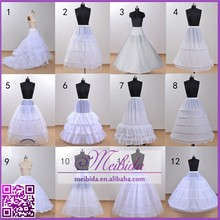 Hot Sale 12 Styles Underskirts Wedding Acessories Fishtail Ball Gown A Line Bridal Long White Petticoat