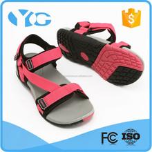 new design nylon webbing beach shoes flat lady sandal