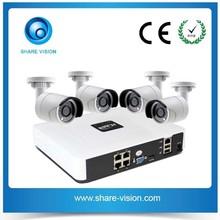 4 Channel POE NVR KIT P2P IP Surveillance Camera Systems Complete CCTV Set