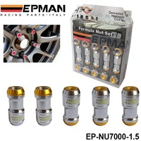 OEM AUTHENTIC EPMAN M12 X 1.5 ACORN RIM Racing Sports Car Lug Wheel Nuts Screw 20PCS Long Gold EP-NU7000-1.5