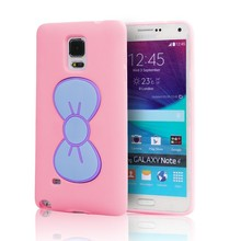 butterfly Cute girl soft tpu silicone case for samsung galaxy note 4,for Samsung note 4 tpu case