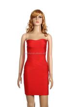 Vestidos casuales red mini dress 2015 women club strapless Dress