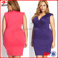 2015 Women Plus Size Dress Draped Front Bodycon Dress & plus size women clothing