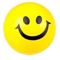PU Smile ball antistress ball