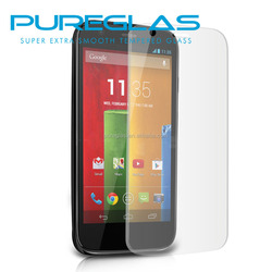 Pureglas tempered glass screen protector for motorola moto g2 cell phone film