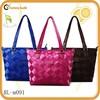 2015 brand name designer retro real leather bag basket style handbag knit bag