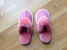 Pure Women Australian Sheepskin Pink Bedroom Slippers