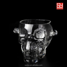 Wholesale Exquisite Skull Vodka Ice bucket with Ears