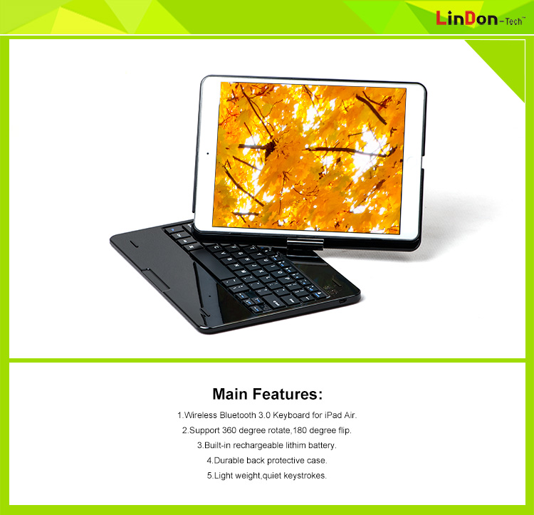 NEW portfolio case with keyboard for ipad air