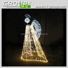 Christmas Outdoor 3D light Angel sculpture, Christmas Angel for outdoor