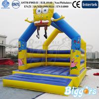 Spongebob Inflatable Bounce House Cartoon Theme Inflatable Bouncer