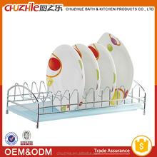 Elegant pratical design metal dish drainer rack