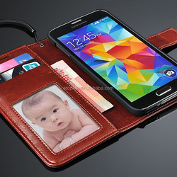 Factory Wholesale leather case for Samsung Galaxy S6 In Stock