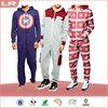 Custom Print Plain colour Footless jumpsuit One piece pajama Wholesale adult onesie