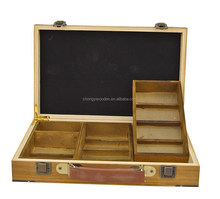2015 year factory suppliers FSC&SA8000 New design and hot sell pine wooden box for Craft, Jewelry, Tea, Exhibition