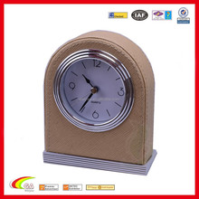 hotel supplies up leather table analog alarm clock