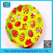 YiWu Factory Direct Sale Metal Christmas Gift Tin Tray/Fruit Serving Iron Plate Hotsale