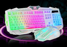 hot selling WHOLESALE Cheap USB 2.4GHz 10M Wireless Keyboard and Mouse Set, Keyboard suite game Computer cable backlit keyboa