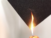 fire retardant open cell foam filter