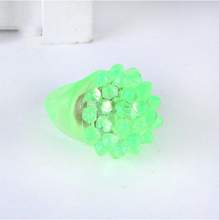 50pcs/lot Soft Jelly Glowing In The Dark LED Glow Finger Rings Light For Wedding Birthday Party Favor Decors Kids Toys