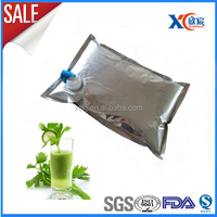 wholesale 5L10L15L fresh celery juice packing bag in box with spout automatic valve cheap