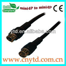 Commonly used black color midi 5-pin din cable 2.0
