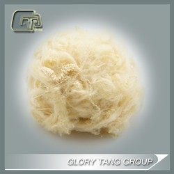 2D 65MM recycled beige color Dope Dyed Polyester Staple Fiber