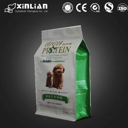 nice quality custom design ziplock side gusset square bottom dog food packaging bag