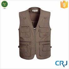 Sleeveless vest for fishing or hunting