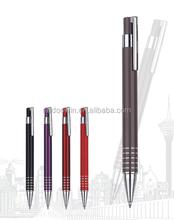 High quality click action aluminum metal ball pen