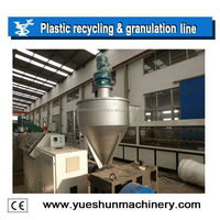 crushed HDPE LDPE film plastic recycling machine