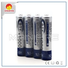 BTY 1000mAh Nimh AAA 10440/14500 AA 1.2V battery