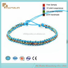 Fashion colorful unisex cotton handmade african friendship bracelets